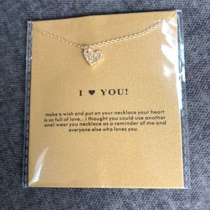 💛14k Gold Dipped I Love You Heart Necklace 💛